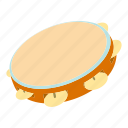 cartoon, drum, melody, philharmonic, samba, sound, tambourine icon