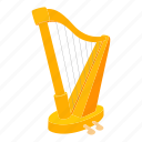 string, lyre, cartoon, wood, music, musical, harp