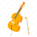 bass, cartoon, cello, contrabass, string, viola, violin icon