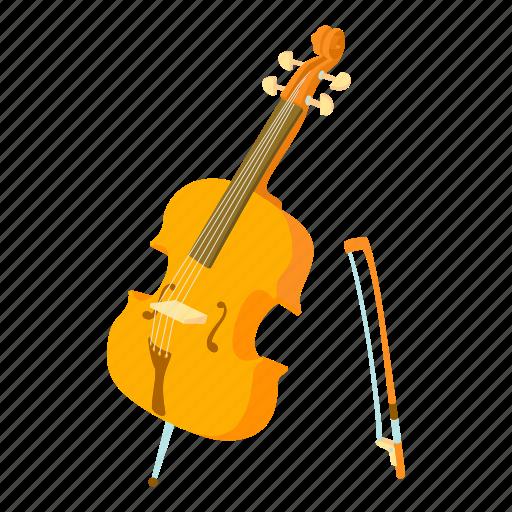 bass, cartoon, cello, contrabass, string, viola, violin icon