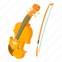 bass, cartoon, cello, contrabass, orchestra, string, viola icon