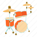 beat, cartoon, drum, music, musical, percussion, sound icon