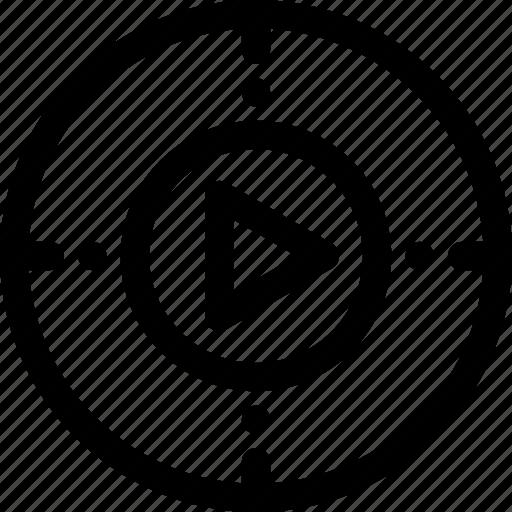 multimedia, player icon