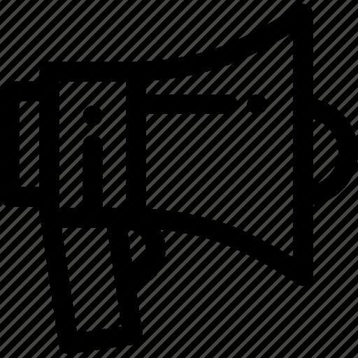 megaphone, protest icon