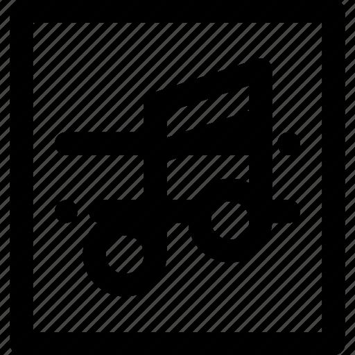 label, music, symphony icon