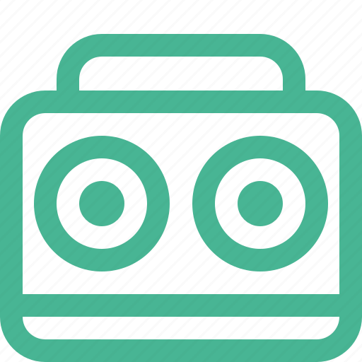 audio, boombox, music, sound, stereo icon