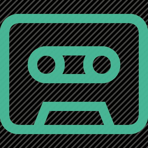 audio, casete, music, sound, vintage icon