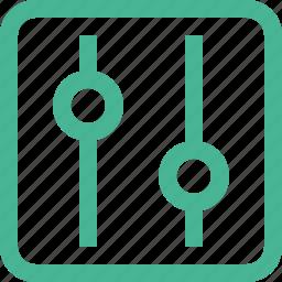 audio, equalizer, mixer, sound, volume icon