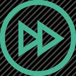 arrow, fast forward, forward, player, right icon