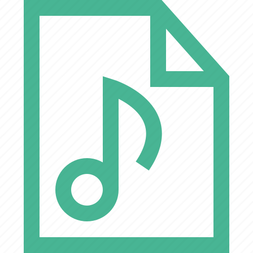 audio, file, music, sound, type icon