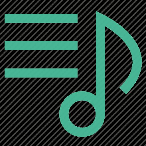 audio, music, note, sheet, sound icon