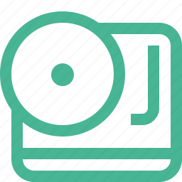 dj, player, turntable, vinyl icon