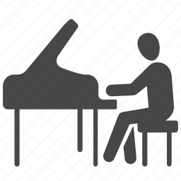 concert, music, musical, musician, orchestra, pianist, piano icon