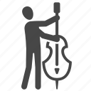 cello, double bass, instrument, music, musician, orchestra icon