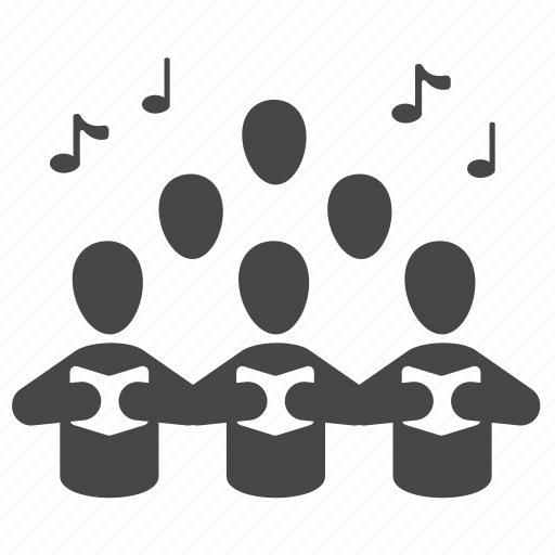 choir, chorus, music, musician, sing, song, sound icon
