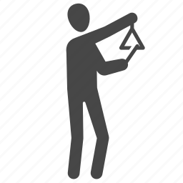 instrument, musical instrument, musician, percussion, rythm, sound, triangle icon