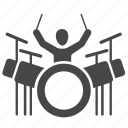 concert, drum, drum set, drums, instrument, music, musician icon