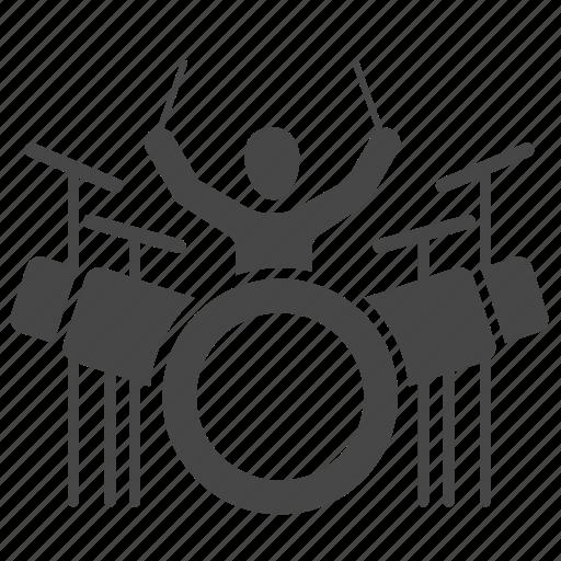 concert, drum, drum set, drums, instrument, music, musician icon