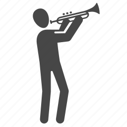 horn, instrument, melodic, musical, musician, orchestra, trumpet icon