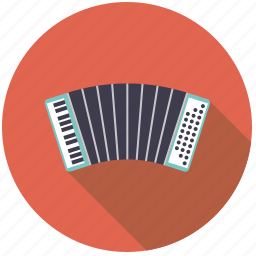 accordion, harmonica, instrument, keyboard, music, sound, squeezebox icon