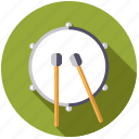bass drum, drum, instrument, mallet, music, percussion, sound icon