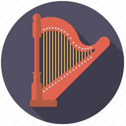 concert harp, harp, instrument, music, sound, string icon