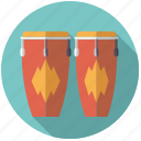 congas, drums, instrument, music, percussion, rhythm, sound icon