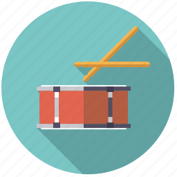 drum, instrument, music, percussion, sound, sticks icon