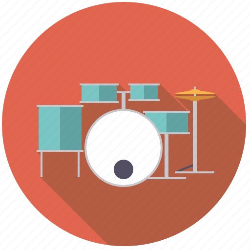 drums, drumset, instrument, music, percussion, rhythm, sound icon