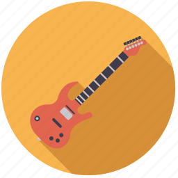 electric, guitar, instrument, music, sound, string icon