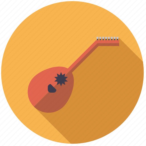instrument, lute, music, sound, string icon