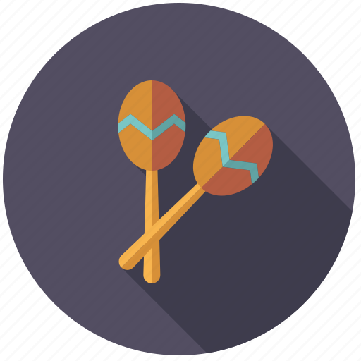 instrument, maracas, music, percussion, rattle, rhythm, sound icon