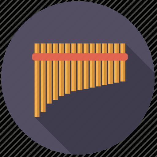 flute, instrument, music, pan flute, sound, wind icon