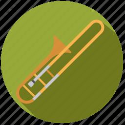brass, instrument, music, sound, trombone, wind icon