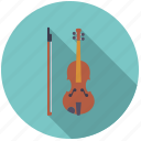 bow, instrument, music, sound, string, violin icon