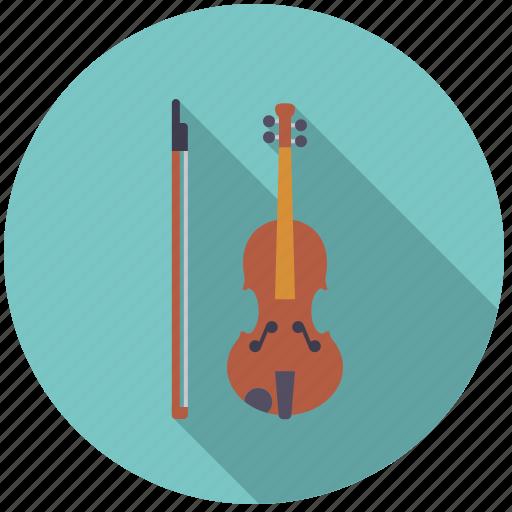 bow, instrument, music, sound, string, violin icon