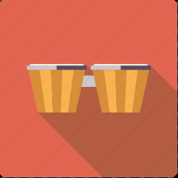 bongo, instrument, music, percussion, rhythm, sound icon