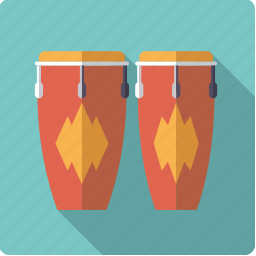 congas, drum, instrument, music, percussion, rhythm, sound icon