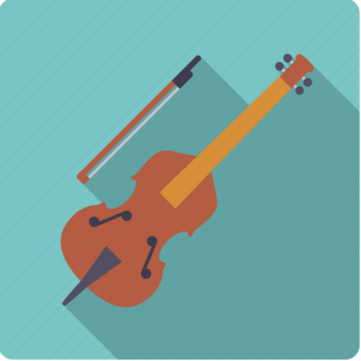 bow, contrabass, double bass, instrument, music, sound, string icon