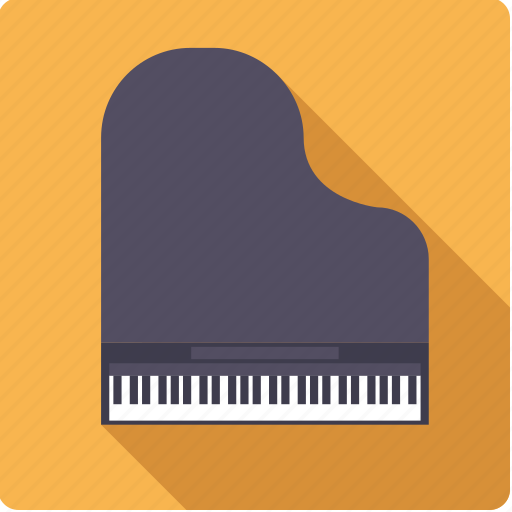 grand, instrument, keyboard, music, piano, sound icon