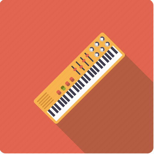 electronic, instrument, keyboard, music, organ, sound, synthesizer icon