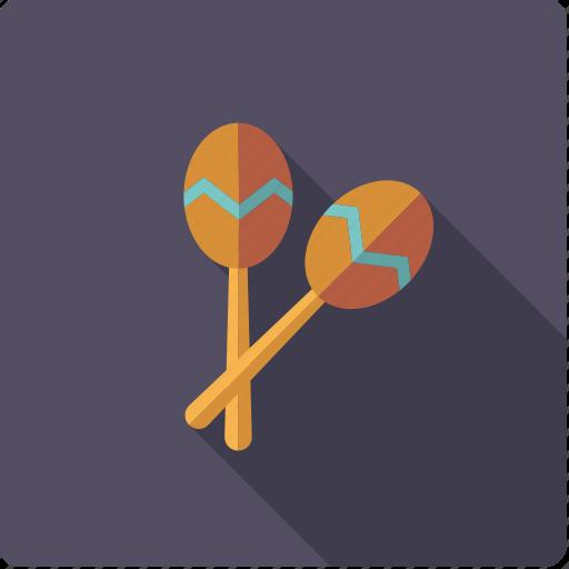instrument, maracas, music, percussion, rattle, rhythm, sound icon