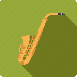 brass, instrument, jazz, music, saxophone, sound, wind icon