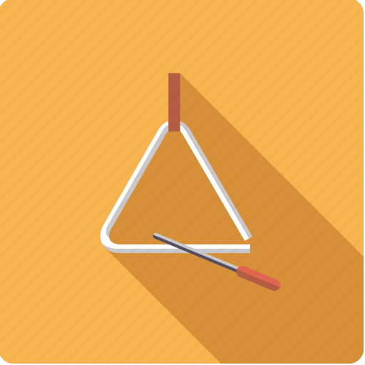 instrument, mallet, music, percussion, sound, triangle icon