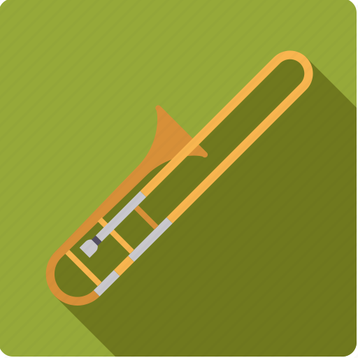 brass, instrument, music, sound, trombone, wind icon