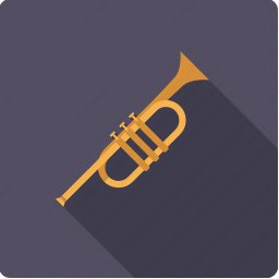 brass, instrument, music, sound, trumpet, wind icon