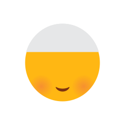 emoji, face, islam, muslim, red cheeks, shame face, smilling face icon