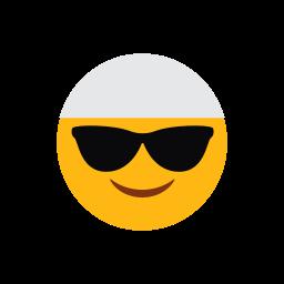 emoji, face, islam, muslim, smilling face, sunglasses icon