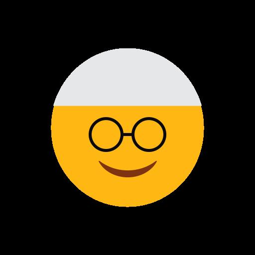 emoji, face, islam, muslim, nerd face, smilling face icon