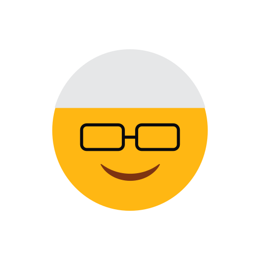 emoji, face, glasses, islam, muslim, smilling face icon
